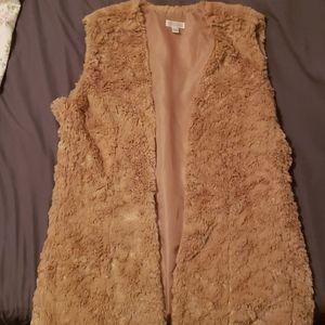 Faux fur vest M